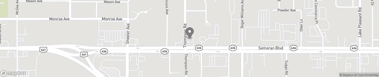 Map of 1201 E Semoran Blvd in Apopka