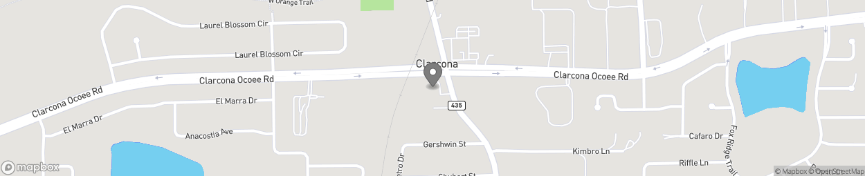 Map of 5490 N Apopka Vineland Rd in Orlando