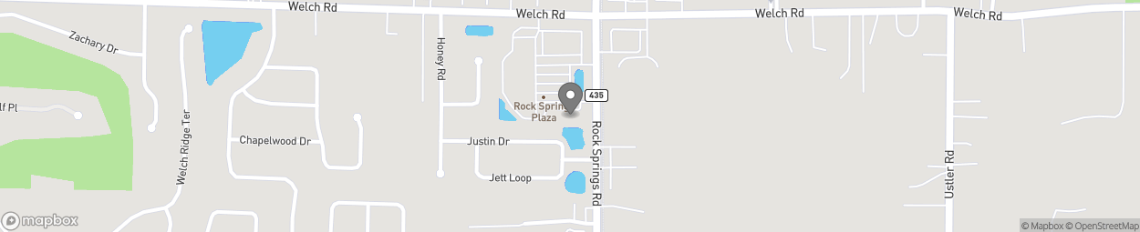 Map of 1400 N Rock Springs Road in Apopka