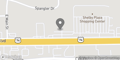 Map of 1625 E Dixon Blvd in Shelby