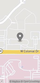 Map of 10165 W Colonial Drive in Ocoee