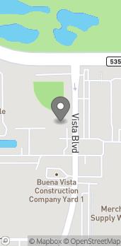Map of 3396 E Vista Blvd in Orlando