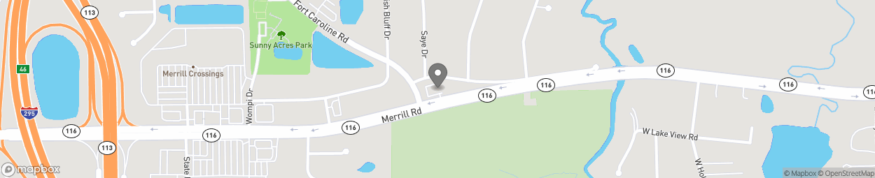 Map of 9551 Merrill Road in Jacksonville