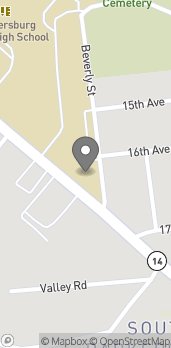 Map of 1615 Blizzard Dr in Parkersburg