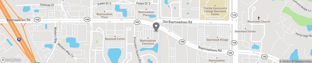 Map of 9550 Baymeadows Rd in Jacksonville