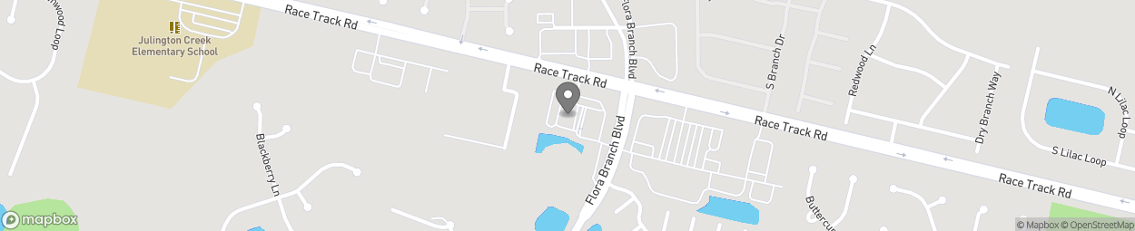 Map of 2676 Race Track Rd in Jacksonville
