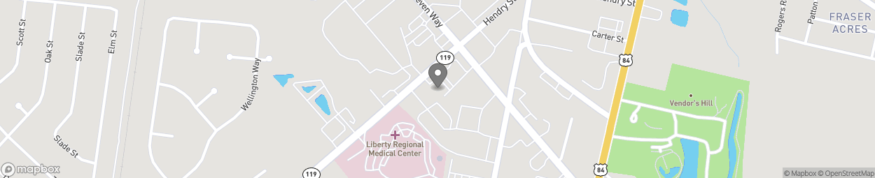 Map of 436 Elma G Miles Pkwy in Hinesville