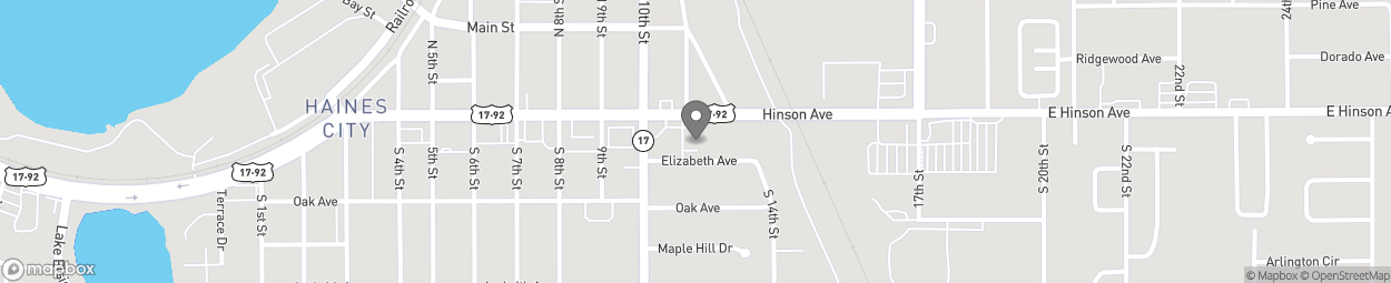 Map of 1015 East Hinson Avenue in Haines City