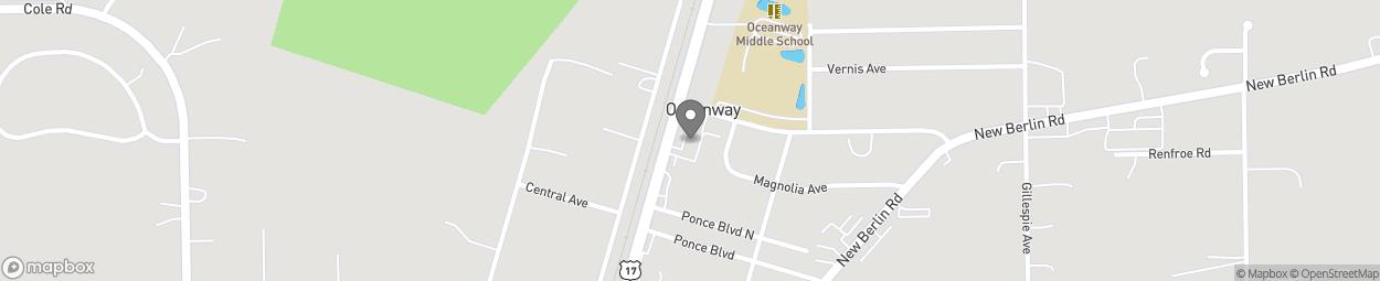 Map of 12665 N Maine Street in Jacksonville