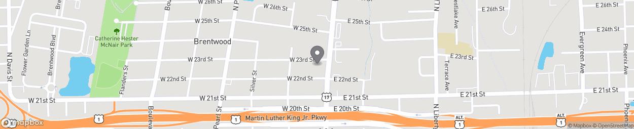 Map of 3208 N Main Street in Jacksonville