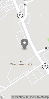Mapa de 1407 W Floyd Baker Blvd en Gaffney