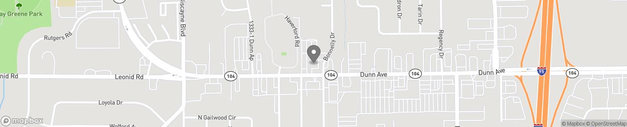 Map of 1205 Dunn Ave in Jacksonville