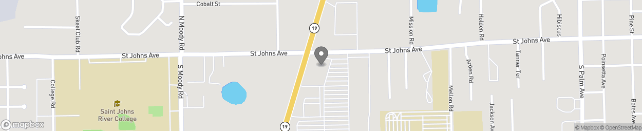 Map of 103 S State Road 19 in Palatka