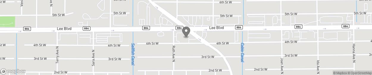 Map of 403 Sunshine Blvd in Lehigh Acres
