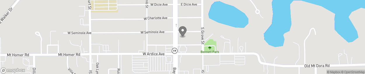 Map of 2505 Bay Street in Eustis