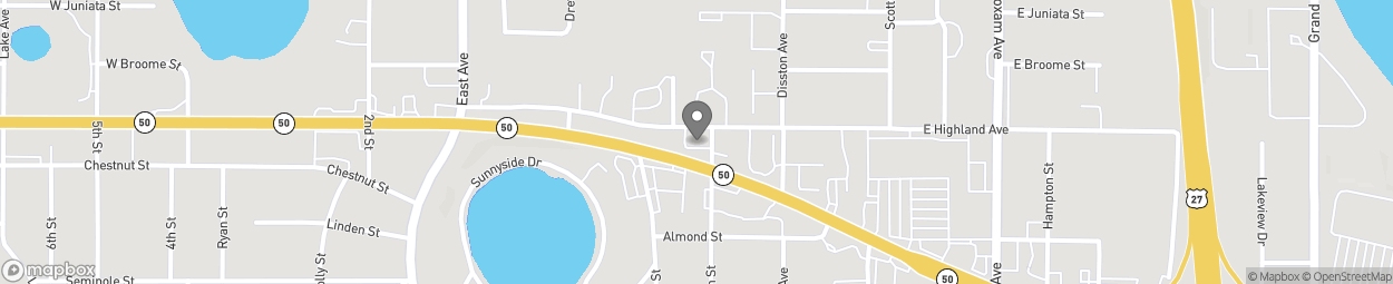Map of 390 E Highway 50 in Clermont