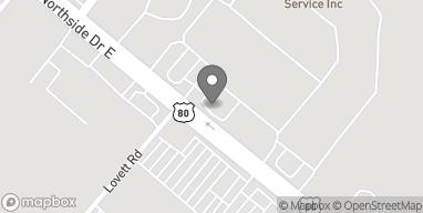 Mapa de 416 Northside Drive East en Statesboro