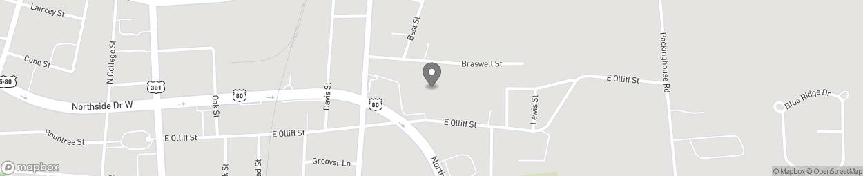 Map of 120 Northside Dr E in Statesboro
