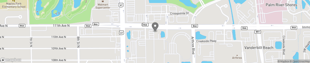 Map of 1016 Immokalee Road S in Naples