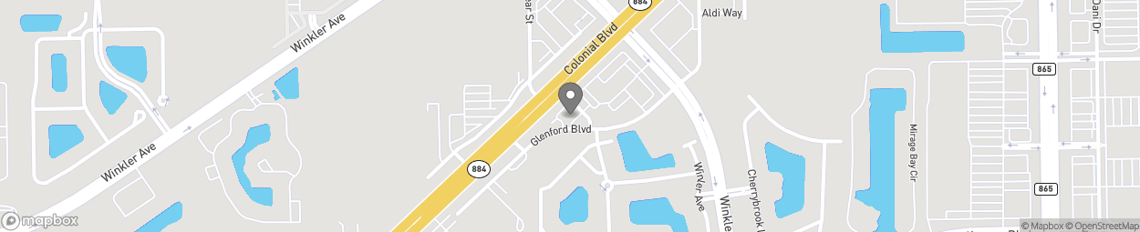 Map of 4380 Colonial Blvd in Fort Myers