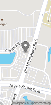 Map of 9508 Crosshill Blvd in Jacksonville