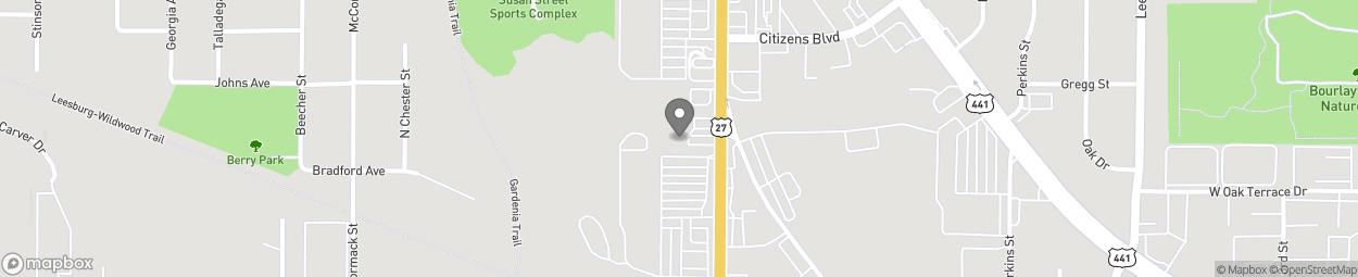 Map of 745 N 14th Street in Leesburg