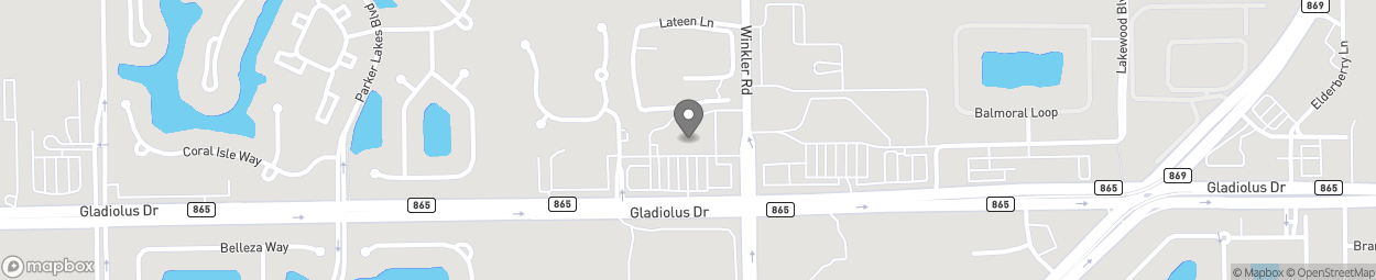 Map of 8750 Gladiolus Dr in Fort Myers
