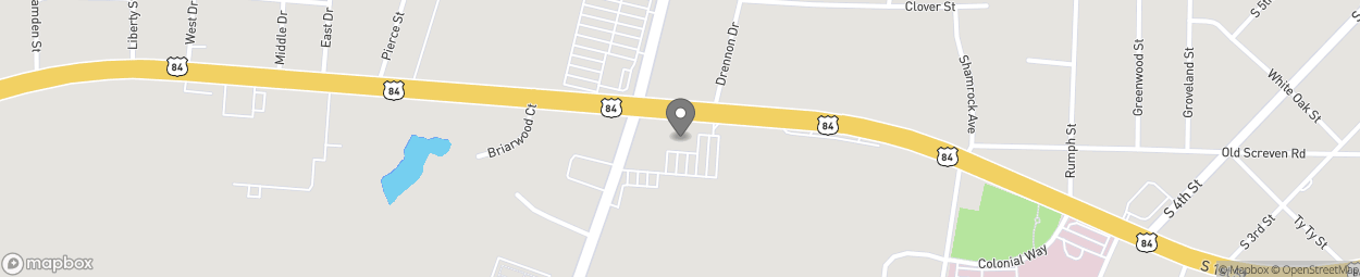 Map of 985 South First St in Jesup