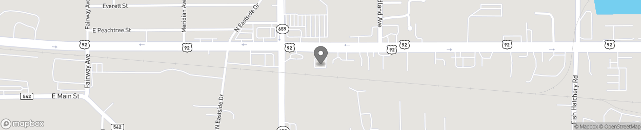Map of 2727 US Highway 92 E in Lakeland