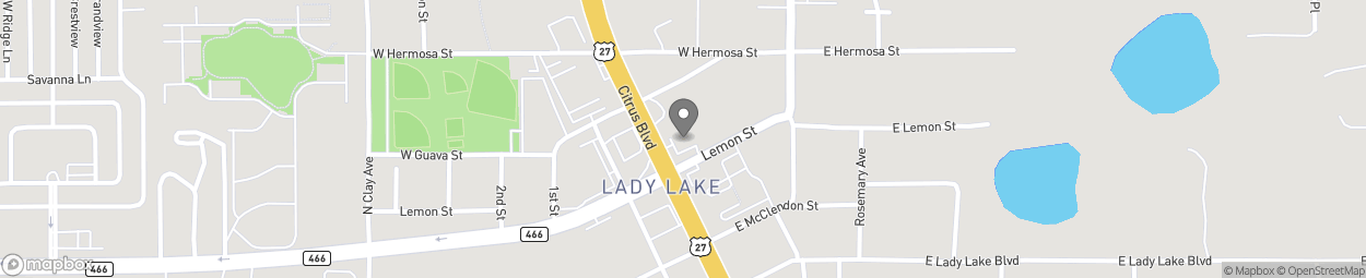 Map of 129 North Highway 441 in Lady Lake