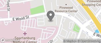 Map of 151 East Wood St in Spartanburg