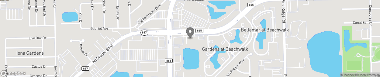 Map of 11591 Gladiolus Drive in Fort Myers