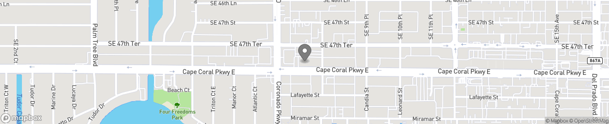 Map of 821 Cape Coral Parkway E in Cape Coral