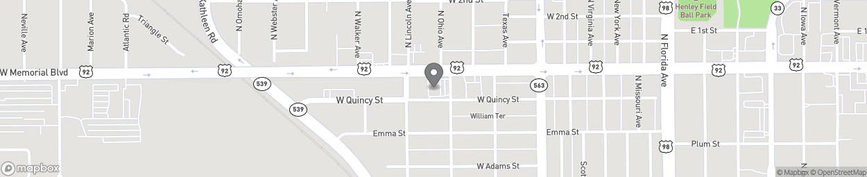 Map of 700 W Memorial Blvd in Lakeland