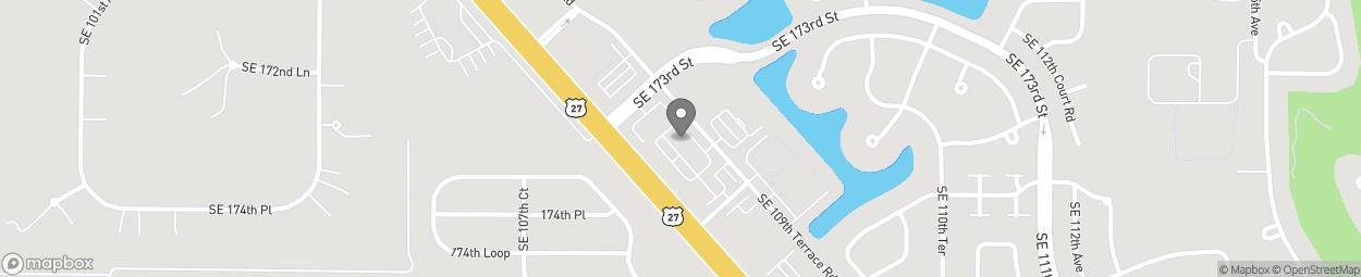 Map of 17350 SE 109th Terrace Rd U in Summerfield