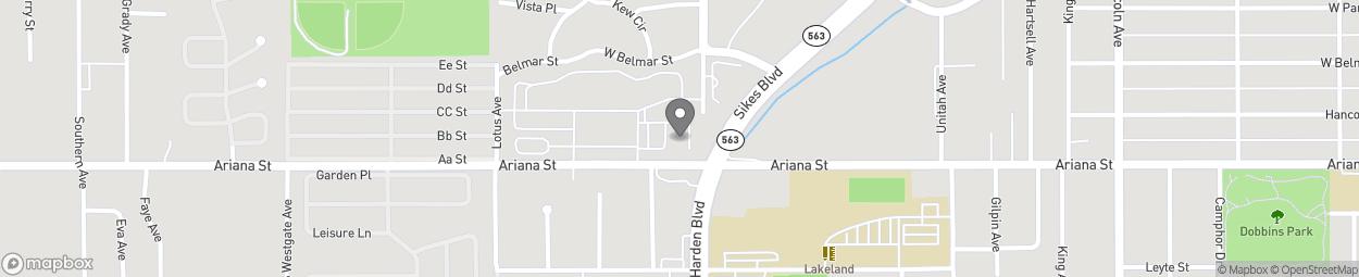 Map of 1205 Ariana Street in Lakeland