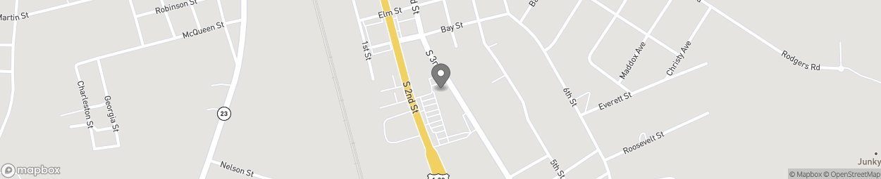 Map of 809 South 2nd Street in Folkston