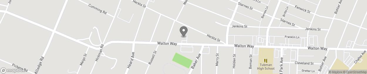 Map of 1933 Walton Way in Augusta