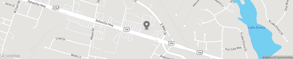 Map of 11036 Asheville Highway in Inman
