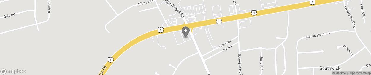 Map of 3404 Deans Bridge Rd in Augusta