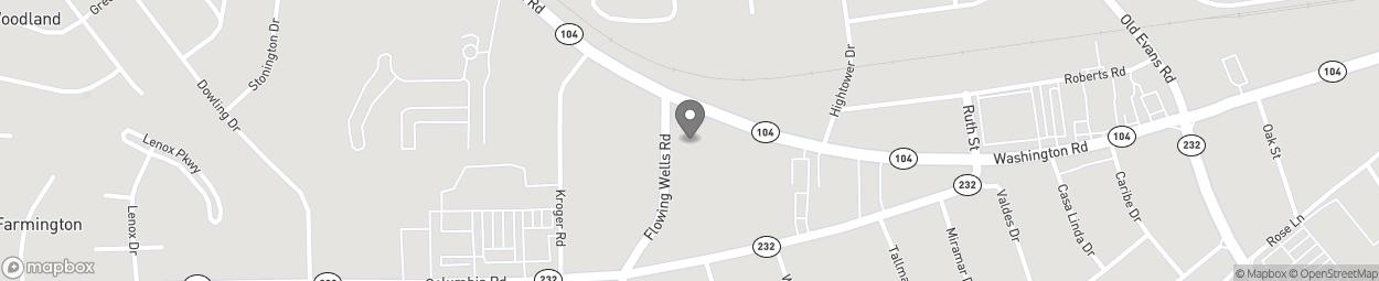 Map of 4018 Washington Road in Martinez