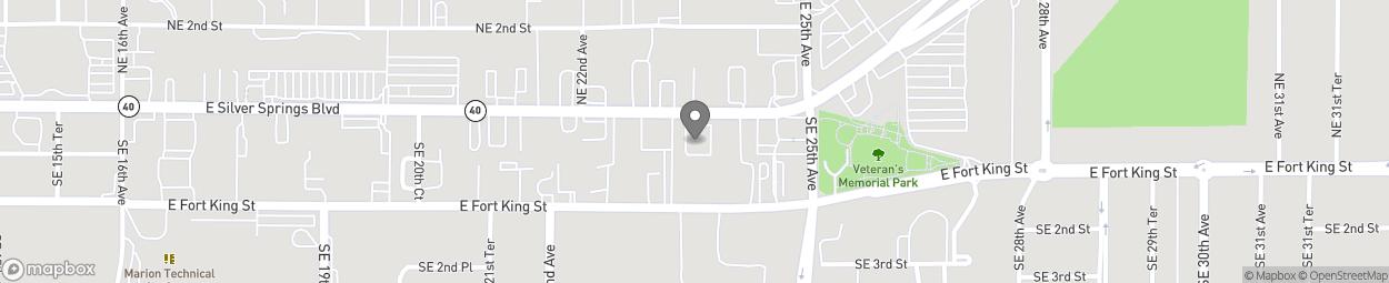 Map of 2402 E Silver Springs Blvd in Ocala