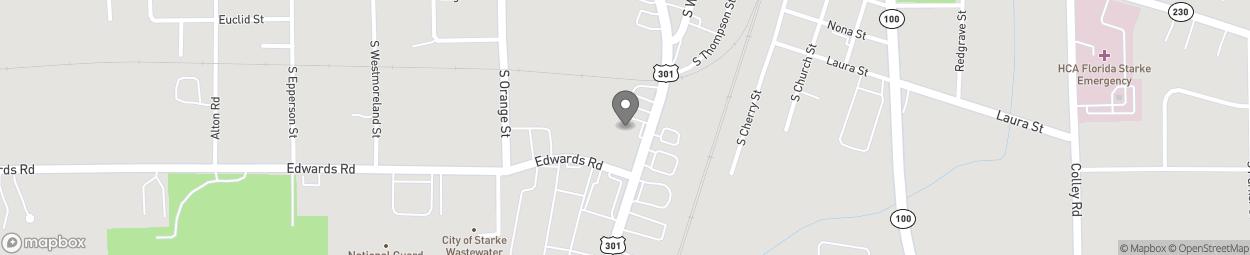 Map of 709 S Walnut Street in Starke