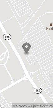 Mapa de 4239 Washington Road en Evans