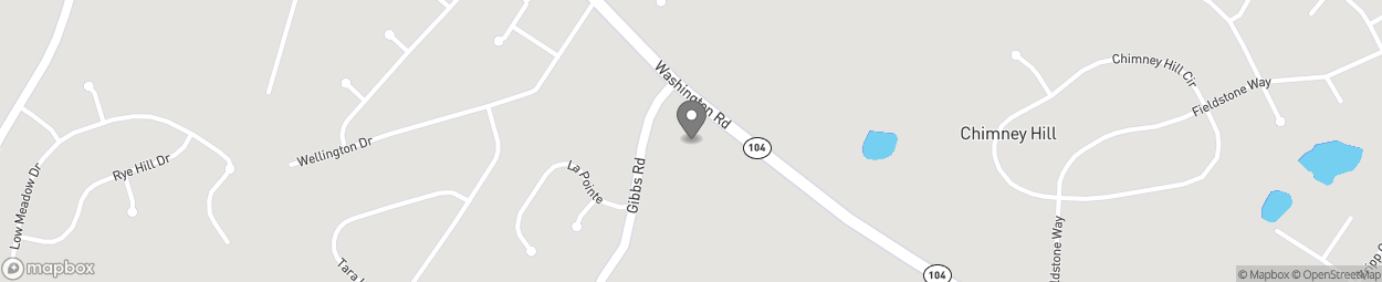 Map of 4552 Washington Road in Evans
