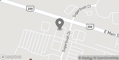 Map of 1004 Sugarbush Drive in Ashland