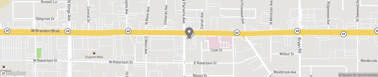 Map of 101 E Brandon Boulevard in Brandon