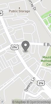 Map of 101 S Main St in Mauldin