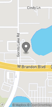 Map of 2020 W Brandon Boulevard in Brandon