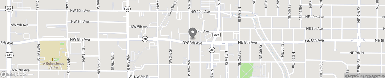 Map of 118 North West 8th Avenue in Gainesville